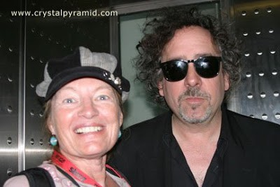 Patty Mooney and Tim Burton at San Diego Comic Con