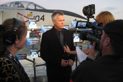 Stargate's Harry Dean Anderson on USS Midway with Crystal Pyramid Productions Crew at SD Comic Con