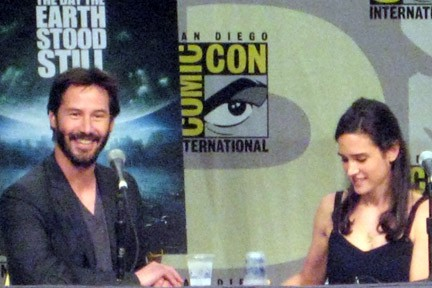 Keanu Reeves and Jennifer Connelly at SD Comic Con