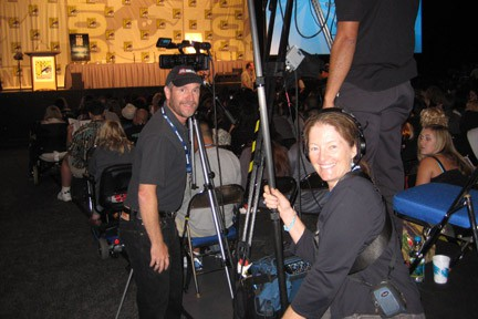 San Diego Video Production Crew DP Mark Schulze and Sound Technician Patty Mooney at SD Comic Con