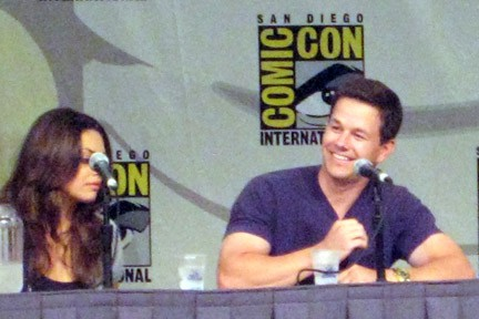 Mila Kunis and Mark Wahlberg on Max Payne panel at SD Comic Con