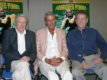 Warren Stevens, Richard Anderson and Earl Holliman, Original Forbidden Planet Cast Members