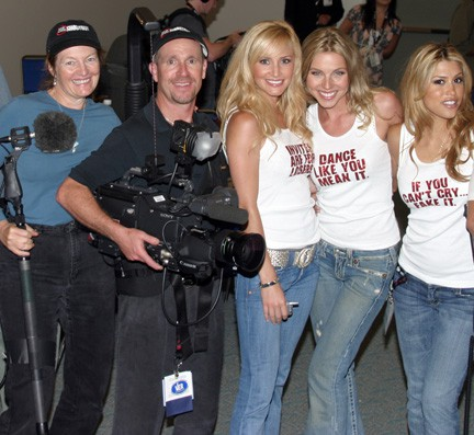 Crystal Pyramid Productions Crew Patty Mooney and Mark Schulze with Wedding Crashers Bridesmaids