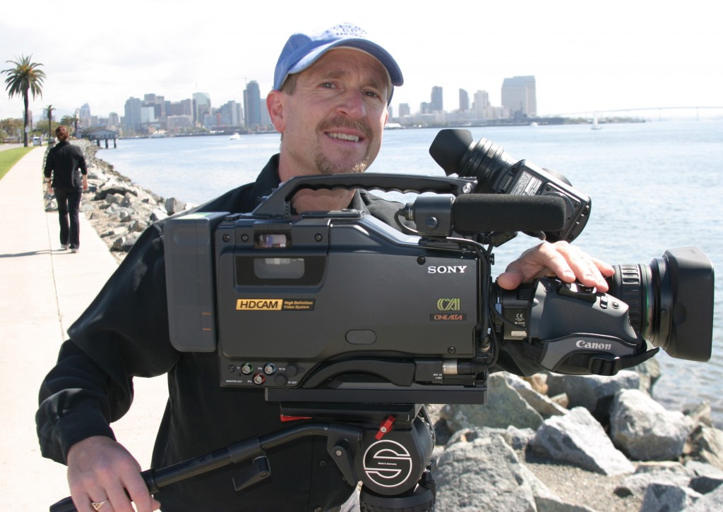 San Diego Video Production camera operator Mark Schulze
