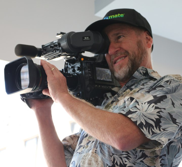 Mark Schulze Director of Photography with broadcast camera equipment