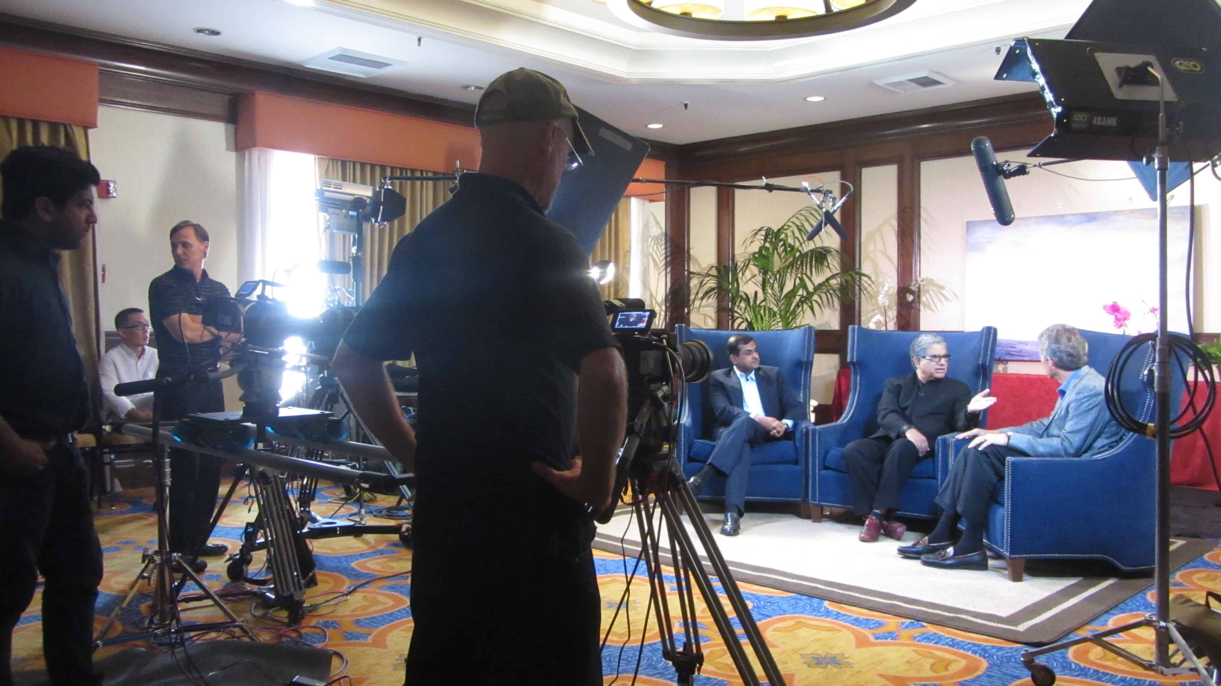 Corporate Video Production at Chopra Center Multiple Cameras