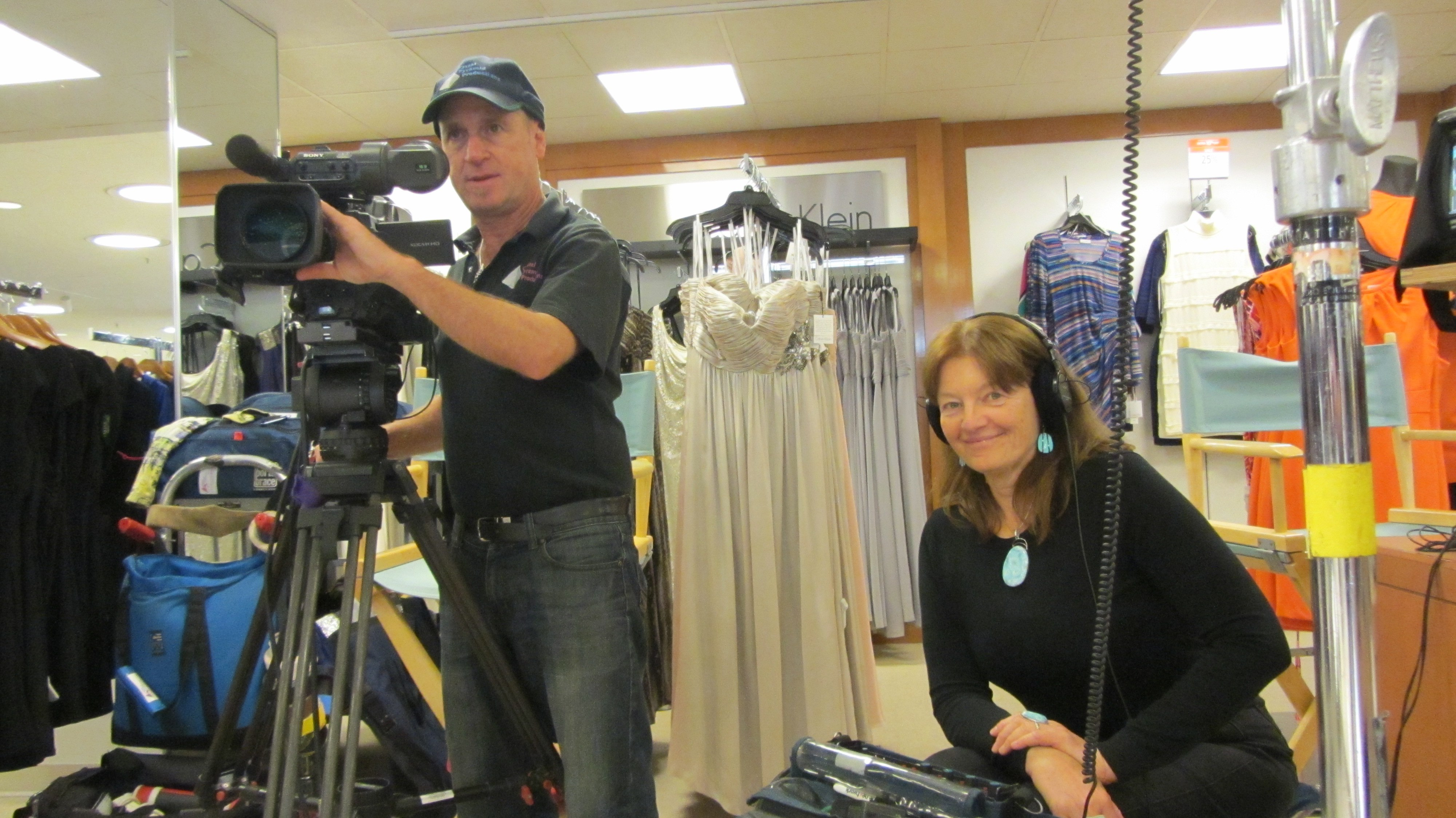 Mark Schulze and Patty Mooney Video Producers at Macys Shoot