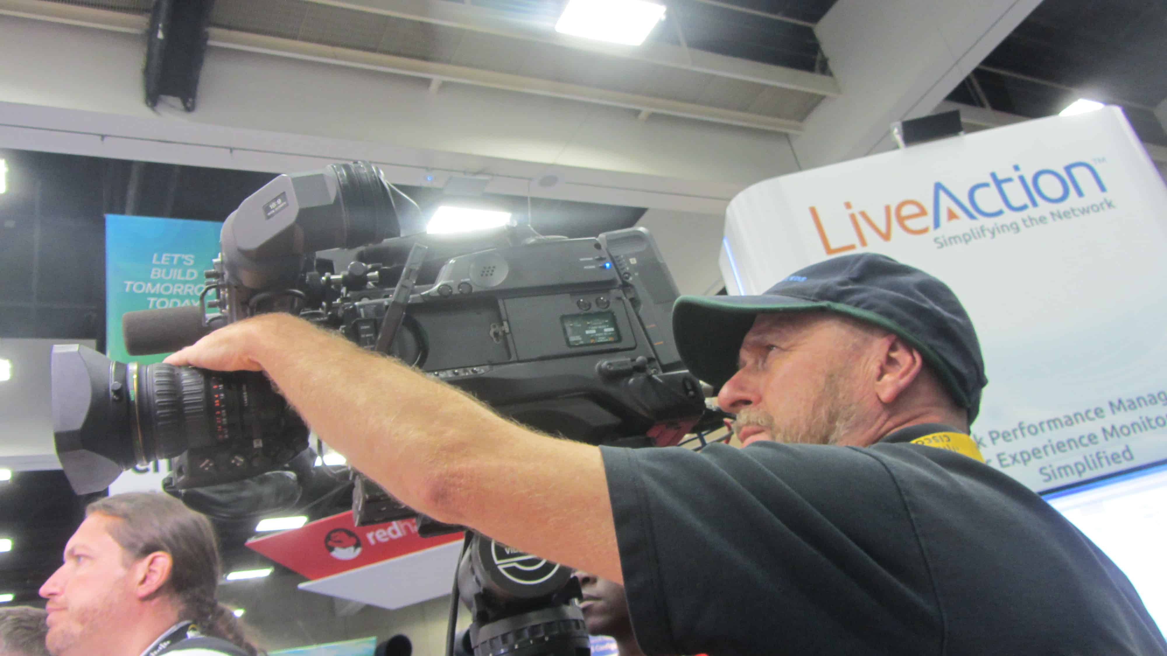 Director of Photography Camera Crews Mark Schulze Videotapes Convention Technology