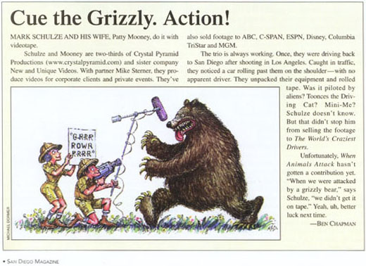 Cue the Grizzly. Action!