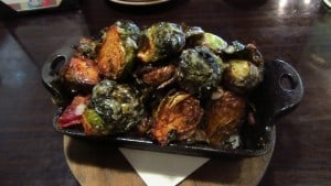 Spike Africa's roasted brussels sprouts golden raisins bacon
