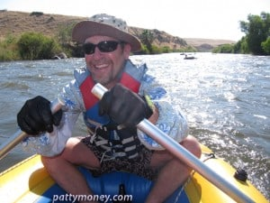 Mark rafting Kern River in Sevylor