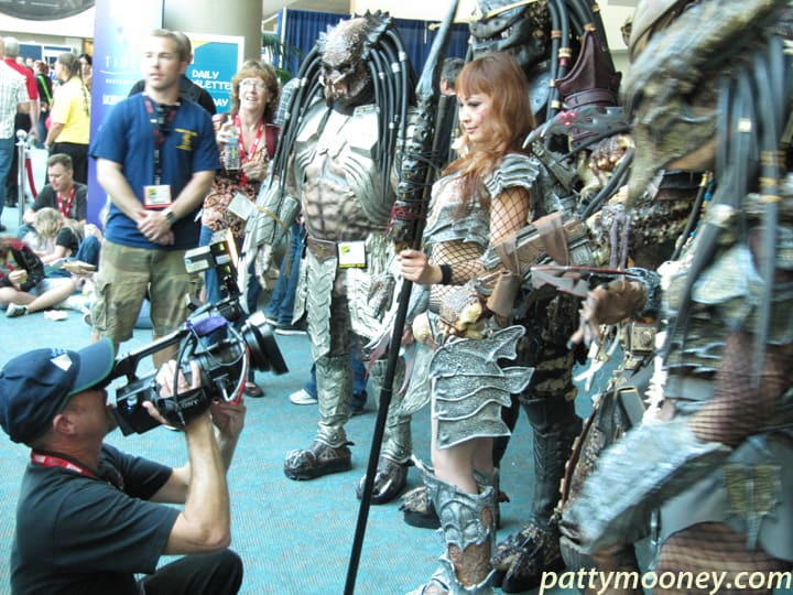 DP Mark Schulze shoots a group of Predators at SDCC